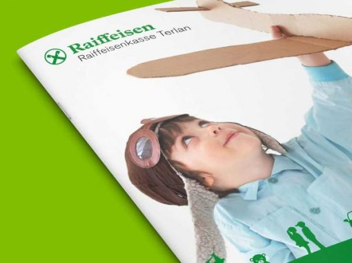 Raiffeisenkasse Terlan · Imagebroschüre und Mirkowebseite
