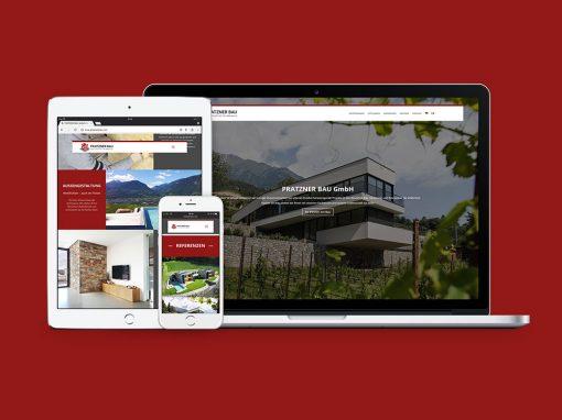 Pratzner Bau GmbH Naturns · Unternehmensauftritt